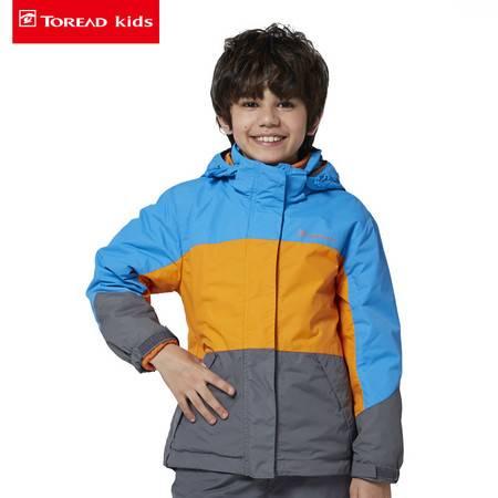 探路者/TOREAD 2016秋季户外新款男童三合一套抓绒冲锋衣TJCJ65101-D