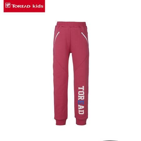 探路者/TOREAD 童装 女童拼接加厚抓毛针织长裤休闲裤 /TPWJ65201-D