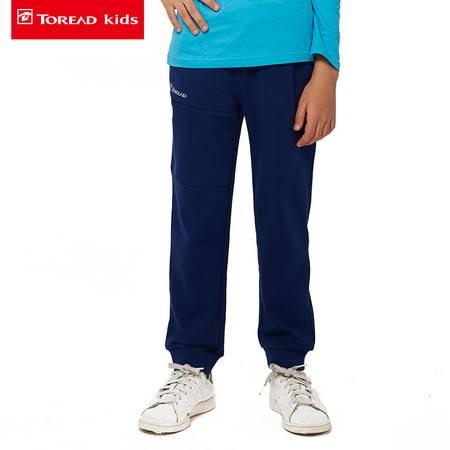 探路者/TOREAD 2016秋冬新款户外男童针织罗纹收口长裤TPWJ55106-D
