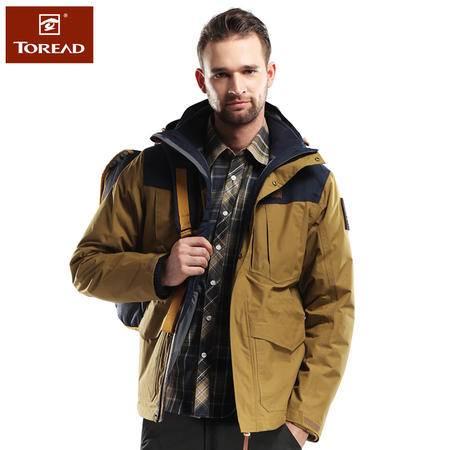 探路者/TOREAD 秋冬男士三合一冲锋衣保暖两件套冲锋衣TAWD91705