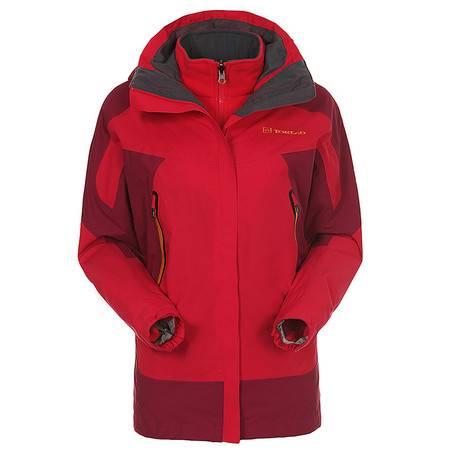 探路者/TOREAD 秋冬季户外女式防水保暖三合一套抓绒衣冲锋衣KAWD92520
