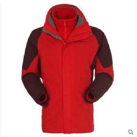 探路者/TOREAD 秋冬季户外男款三合一套绒冲锋衣KAWD91430