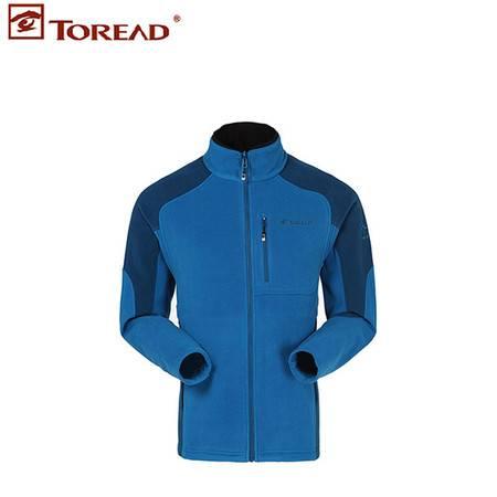 探路者/TOREAD 秋冬户外男式可套穿开衫保暖抓绒衣KACD91523
