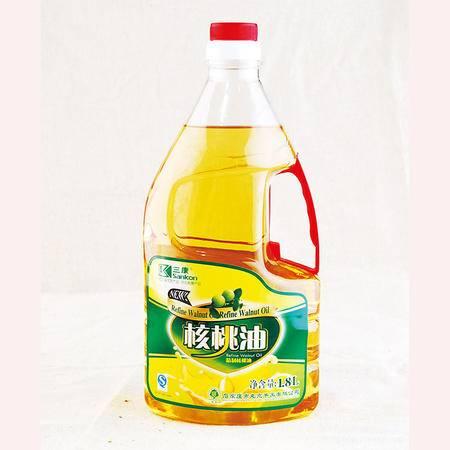 三康纯核桃油 物理低温冷榨 1.8L桶装
