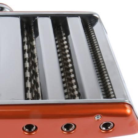 拜杰3刀橙色家用手动多功能压面机不锈钢面条机饺子馄饨皮擀面机