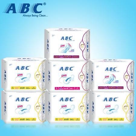 ABC棉柔超薄卫生巾姨妈巾 纯棉清爽日夜优惠套装7包
