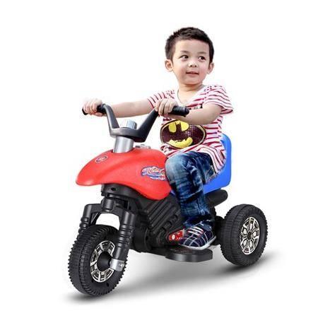 乐的 儿童电动摩托车电动三轮车1-5岁男女宝宝可坐充电玩具童车