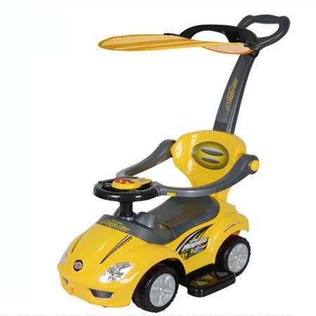 智乐堡踏行助学步车儿童溜溜滑行车推杆护栏宝宝车可坐可推玩具车