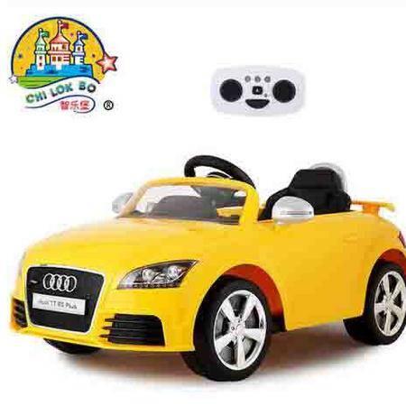 智乐堡奥迪儿童电动车四轮汽车小孩玩具车可坐人宝宝遥控童车双驱