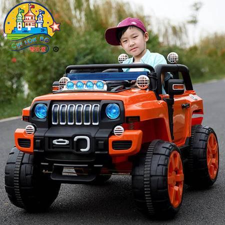 智乐堡儿童电动车越野车宝宝双驱四轮汽车带遥控可坐人玩具车小孩