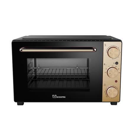 考啦防烫电烤箱 GF-3502GN 土豪金/铁氟龙 35L 多功能家用烘焙烤箱 四层烤位超大容量电烤