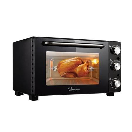 考啦防烫电烤箱 GF-2802BG 钛金黑 28L旋转烤叉 可烤整鸡鸭 多功能家用烘焙箱 烤叉可旋转