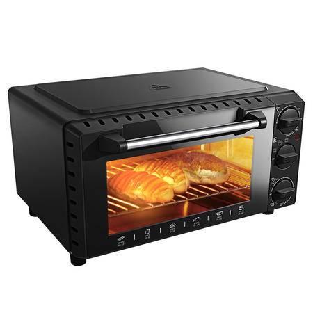 考啦防烫电烤箱 GF-1302BG 钛金黑 13L 家用电烤箱 烘焙