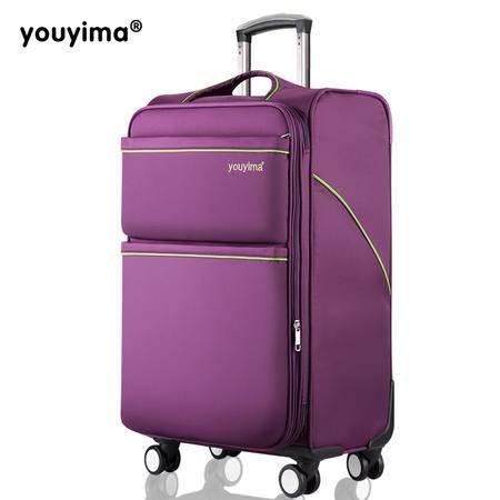 优衣玛万向轮拉杆箱男女商务旅行箱布箱软箱行李箱 24寸