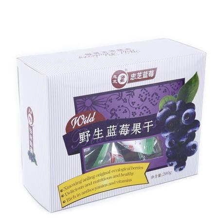 果干 野生蓝莓果干200g 忠芝野生蓝莓果干小袋装