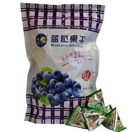 果干 野生蓝莓果干500g 忠芝野生蓝莓果干小袋装