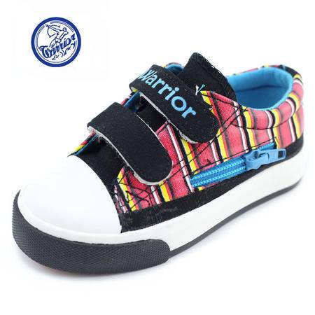 江云飞辉跃春季款回力宝宝鞋低帮魔术贴帆布鞋男女童板鞋条纹童鞋7990牛派