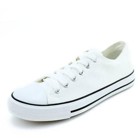 江云飞牛派a012016年最新款男装帆布鞋 基本款黑白韩版鞋 学生情侣纯色布鞋