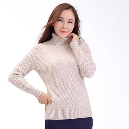 2016新款冬天毛衣女加厚高领套头羊绒衫通勤毛衣针织衫修身打底衫