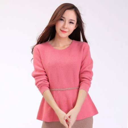 秋冬女士羊毛衫修身低领打底衫圆领紧身针织衫羊绒衫短款套头毛衣