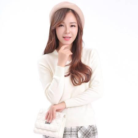 V领羊绒衫女套头毛衣韩版修身羊毛衫2015秋冬新款纯色长袖打底针织衫