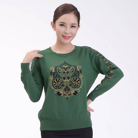 内蒙羊绒衫女加厚通勤毛衣修身显瘦保暖针织打底衫简单时尚保暖毛衣