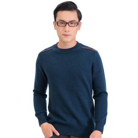 男士羊绒衫纯色加厚圆领休闲套图毛衣韩版修身年轻时尚针织衫打底