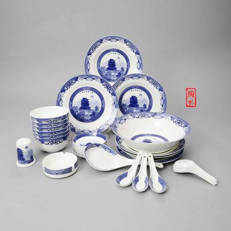 高档骨瓷餐具套装 28头微波炉盘碗碟套装