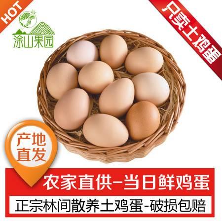 【限时抢购】正宗农家散养土鸡蛋 果园新鲜土鸡蛋草鸡蛋柴鸡蛋月子蛋10枚装 包邮