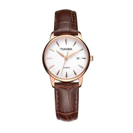天霸手表 经典复古手表 女石英手表 腕表 女士手表 TL7003.22PC 棕色