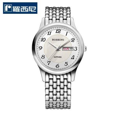 罗西尼ROSSINI  雅尊商务系列 不锈钢石英情侣表 腕表 钢带手表5355/5356W01C