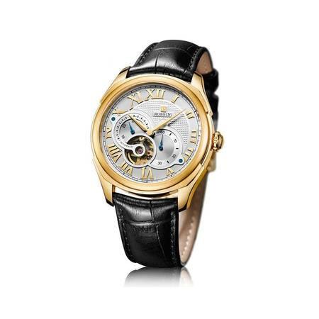 罗西尼 男士手表 新款皮带不锈钢腕表时尚镂空机械男表 腕表 男士手表5617G01B
