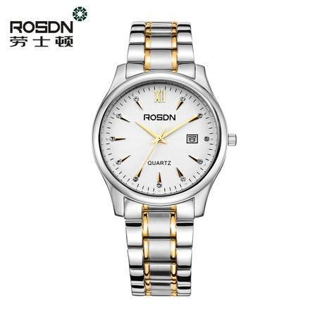 劳士顿手表 全钢带石英表简约防水 腕表 情侣表 男表女表可选3053GL