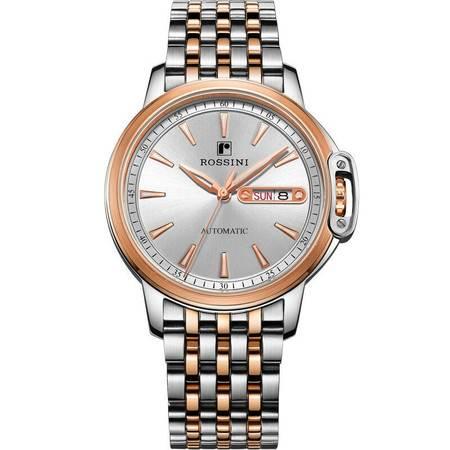 罗西尼(ROSSINI)手表 雅尊商务系列  自动机械男士钢带手表7633系列