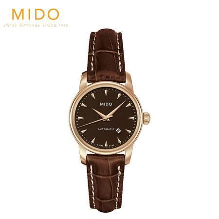美度MIDO-贝伦赛丽系列  机械女表 腕表 女士皮带手表 M7600.3.17.8