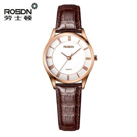 劳士顿 超薄防水石英表 商务休闲时尚女表 真皮皮带女士手表 腕表G3212GL-7