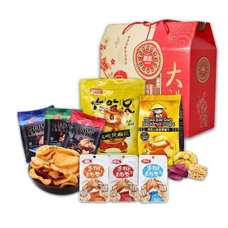粮悦 4种美味零食精心搭配 送礼佳选 休闲零食超值大礼包
