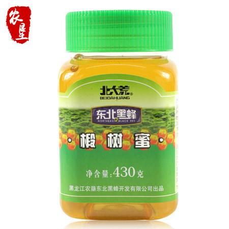 【农垦 黑龙江】北大荒  东北黑蜂  蜂蜜农家纯蜂蜜 椴树蜜430g*1