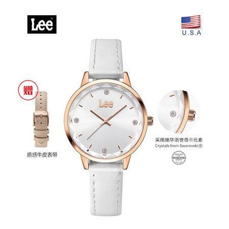 【下单送原装皮带】LEE 美国潮牌 时尚潮流 女士皮带石英手表 腕表 2色可选 LEF-F19