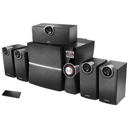 Edifier/漫步者C6XD 5.1声道家庭影院音响 多媒体电脑音箱支持光纤-黑色