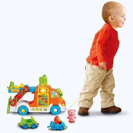 伟易达 vtech 动物运输车 音乐玩具车 宝宝早教益智力玩具