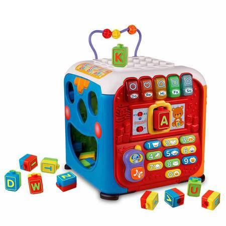 伟易达Vtech 学习智立方 多功能游戏 儿童数字早教跟读玩具