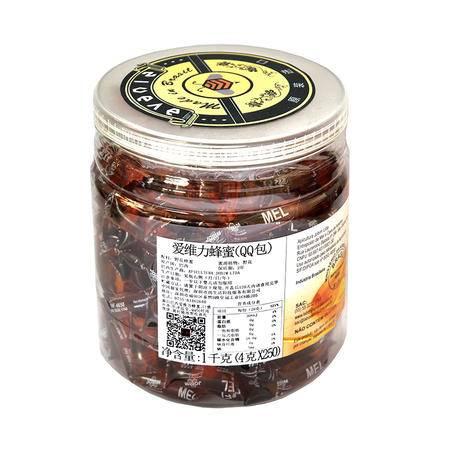 爱维力 QQ装百花蜂蜜原装进口巴西纯天然野生便携吃货最爱1KG