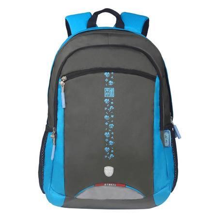 Kongzi孔子书包 2016年新品中小学生书包男女休闲双肩包时尚运动透气背包R207L-蓝色