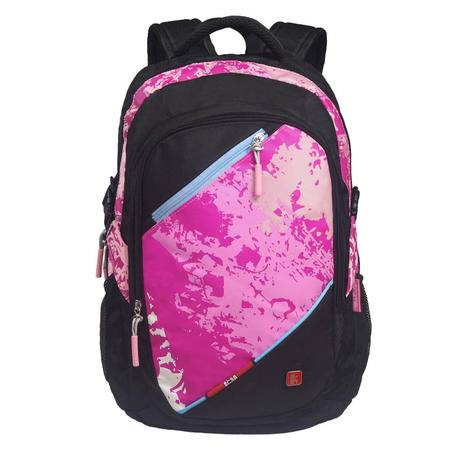 Kongzi孔子书包 2016年新品中小学生热卖双肩包休闲运动背包电脑包学院风A305M-玫红