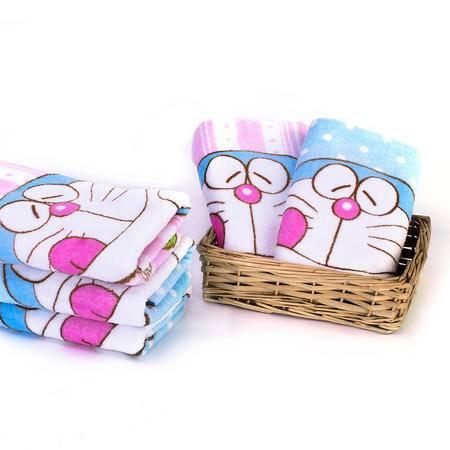 哆啦A梦 儿童毛巾礼盒DM-4510(蓝色、粉色毛巾各一条)
