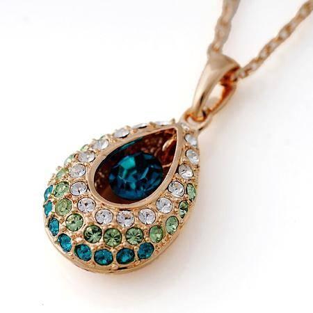 丽晶  帕切西拉娜 时尚合金天竺公主水晶项链吊坠
