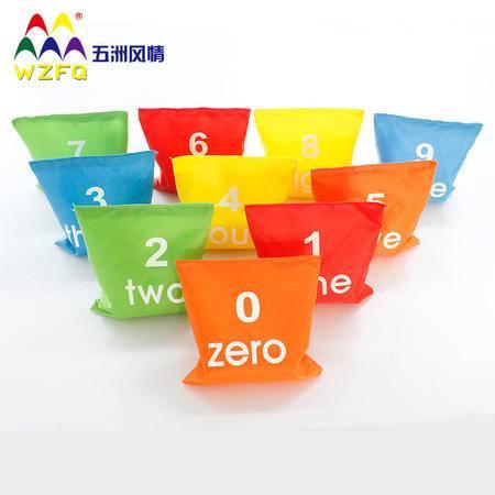 五洲风情儿童数字沙包 游戏沙包 幼儿园沙包活动团体感统玩具正品新年礼物