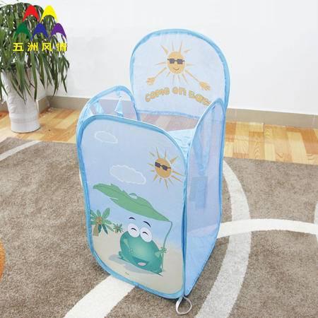 五洲风情 家居收纳篮 儿童洗衣篮 脏衣桶 玩具收纳篮 可折叠脏衣篮 储物篮