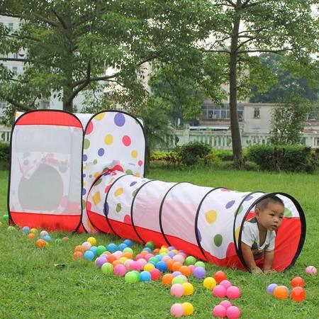 五洲风情/WZFQ 早教玩具便携式儿童帐蓬超大房子子钻洞隧道筒户外游戏屋室内